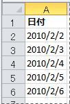 変換された日付