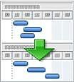 リソース平準化グラフィック
