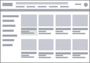 電子商取引用のワイヤーフレーム図