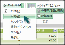 PowerPivot のオート SUM