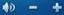 [音量コントロール] ボタンの画像