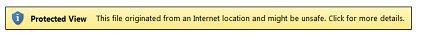 インターネット上の場所に対する保護ビュー