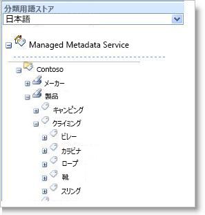 メタデータを管理する