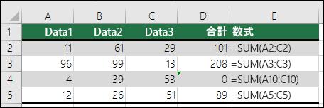 数式が隣接した数式のパターンと一致しない場合、Excel はエラーを表示します