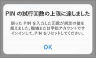 何度も不正な PIN を入力すると、PIN を再設定する必要があります。