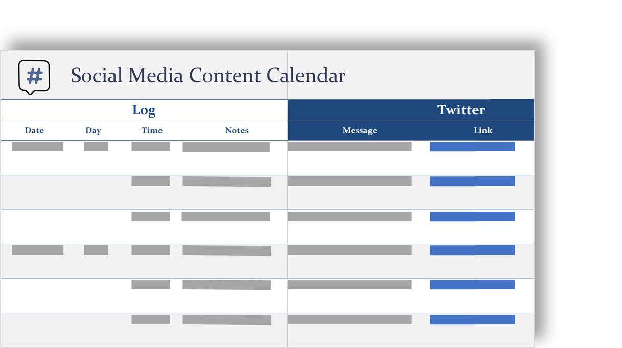 ソーシャルメディアコンテンツカレンダーの概念図