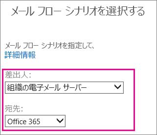 組織のメール サーバーから Office 365 を選ぶ