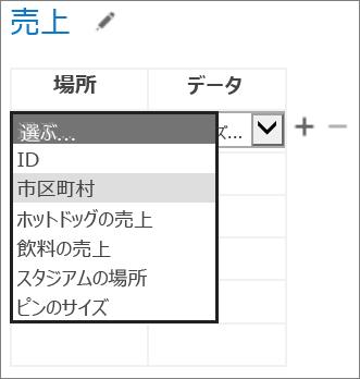 Access アプリに表示する Office 用アプリのデータを選ぶ