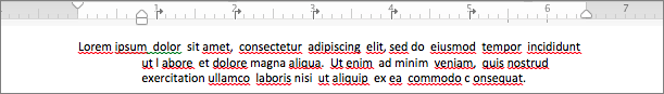 ぶら下げインデントが適用された段落の例