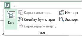 Жылдам қатынау тақтасында XML түймешігін басыңыз.