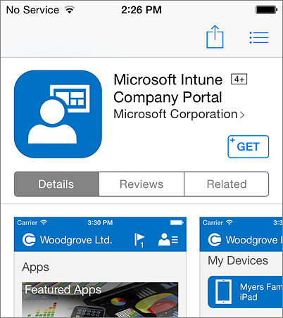 Install Company Portal on iPhone