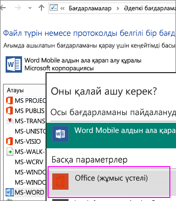 Switch to Office (desktop) for protocols that open templates from the web