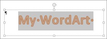 Таңдалған WordArt мәнерлері