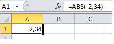 Формула жолағында көрсетілген формулалар тақтасы