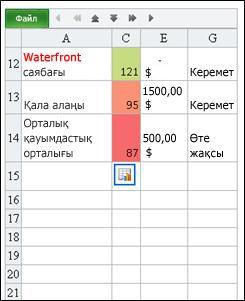 Excel жүйесіне арналған Mobile Viewer бағдарламасынан табылған жол