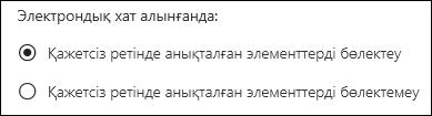 Веб-беттегі Outlook бағдарламасының «Қажетсіз» параметрі