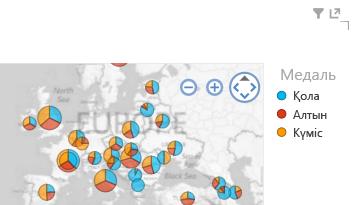түсті Power View карта көрнекі бейнелеріне қолданылады