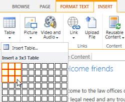 Кестені SharePoint Online қоғамдық веб-торабына кірістіру