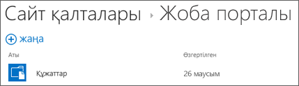 Сайттағы құжаттар кітапханаларын көру үшін Office 365 жиынтығындағы Сайт қалталары тізімінен сайтты таңдаңыз.