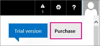 Office 365 жиынтығының сынақ нұсқасын сатып алу үшін пайдаланылатын түймешік