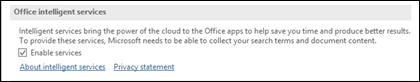Интеллектуалдық қызметтерді қосу немесе өшіру үшін Файл> Опциялар > Жалпы тармағына өтіңіз.