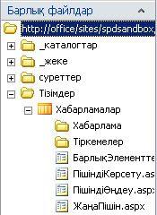 SharePoint Designer бағдарламасындағы барлық файлдар