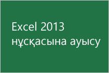 Excel 2013 нұсқасына ауысу