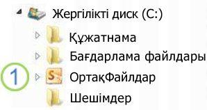 Windows Explorer бағдарламасындағы Ортақ қалта белгішесі