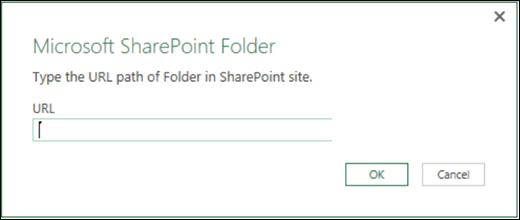 «Excel Power BI қызметіндегі SharePoint қалтасының қосқышы» диалогтық терезесі