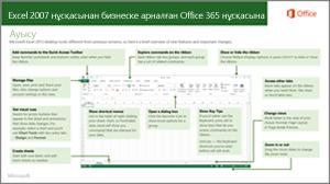 Excel 2007 қызметінен Office 365 қызметіне ауысуға арналған нұсқаулық нобайы