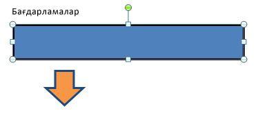 Тік төртбұрыштың контур түсі өзгереді.