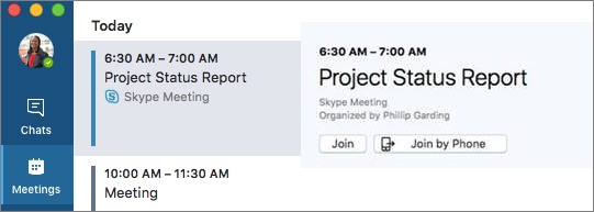 Join by Phone option on the Meetings tab