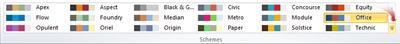 Publisher 2010의 다른 색 구성표