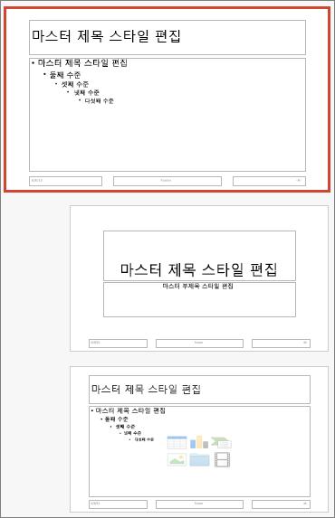 Mac용 PowerPoint 슬라이드 마스터