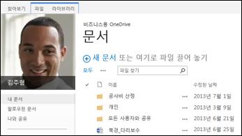 SharePoint 2013 비즈니스용 OneDrive