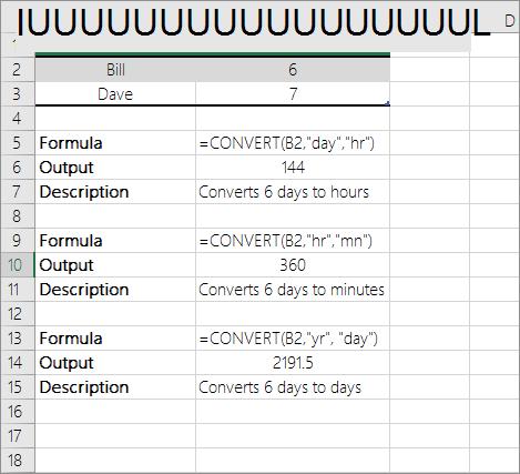 예: 시간 단위 간 변환