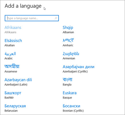 언어 추가