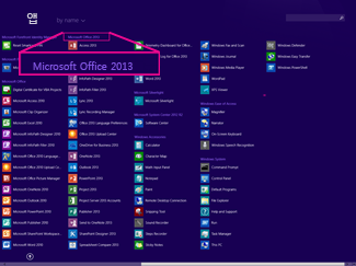 Find the Office application by name