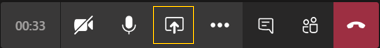 강조 표시된 바탕 화면 아이콘 표시