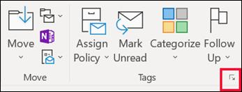 중요도 수준을 설정 하려면 메시지 옵션을 클릭 합니다.