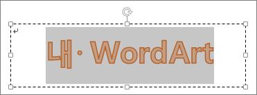 선택한 WordArt