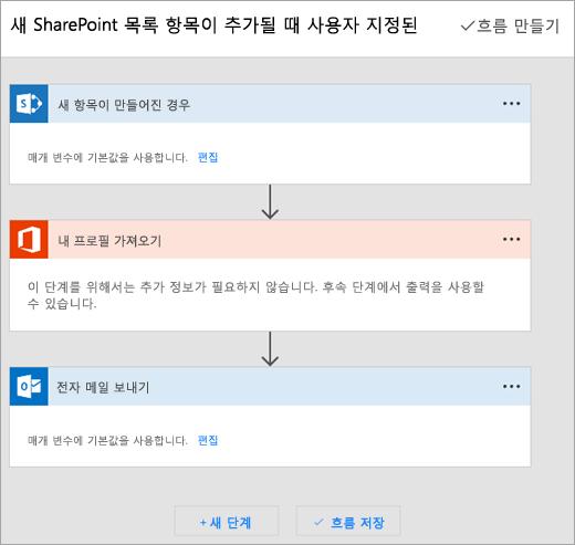 흐름을 연결 하려면 Microsoft 흐름 사이트의 지침을 따릅니다.