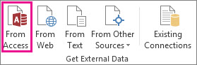 데이터 탭의 Access 단추