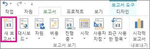 보고서 탭의 새 보고서 단추