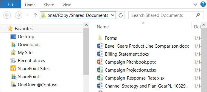 """""""탐색기에서 열기"""" 옵션을 선택한 후의 파일 탐색기"""