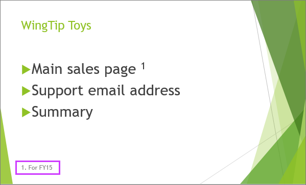 PowerPoint에서 바닥글이 있는 슬라이드