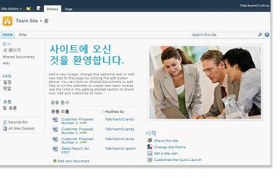 SharePoint 팀 사이트