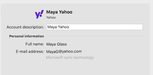 Outlook에서 Yahoo 계정 지원
