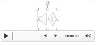 스피커 아이콘이 선택되어 있는 오디오 컨트롤