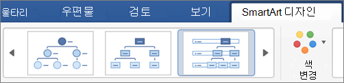 SmartArt 디자인 유형 클릭